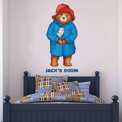 Paddington Bear - Personalised Name Paddington Wall Sticker 002