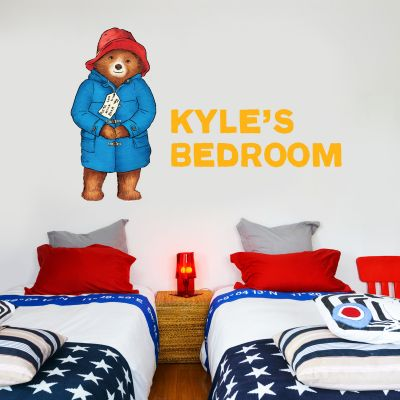 Paddington Bear - Personalised Name Paddington Wall Sticker 003