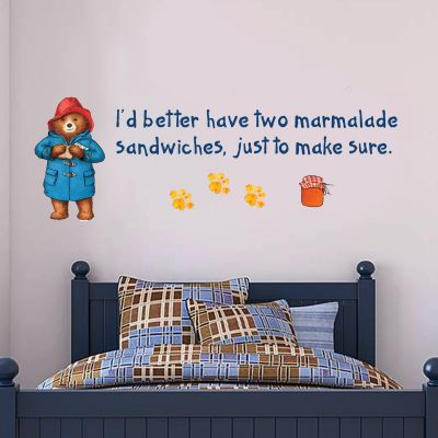 Paddington Bear - Paddington Marmalade Quote Wall Sticker 004