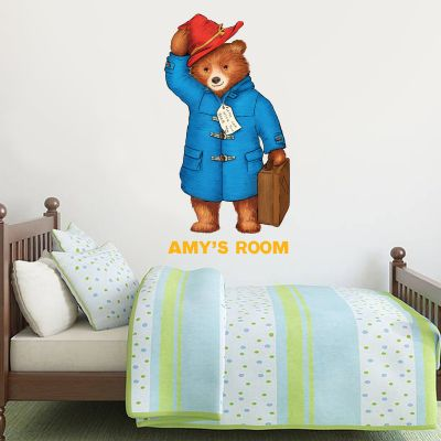 Paddington Bear - Personalised Name Paddington Wall Sticker 006