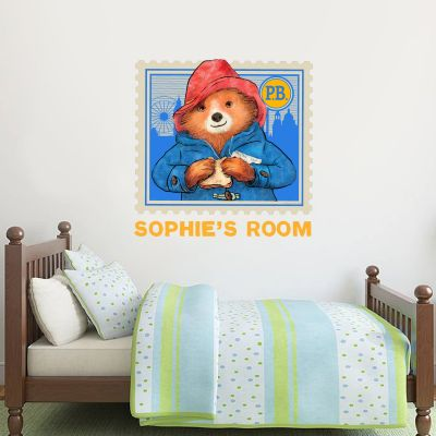 Paddington Bear - Personalised Name Paddington Stamp Wall Sticker