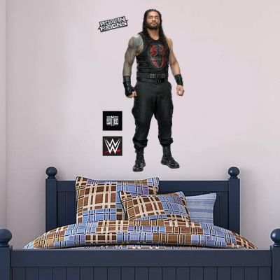 WWE - Roman Reigns Wrestler Decal + Bonus Wall Sticker Set