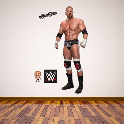 WWE - Triple H Wrestler Decal + Bonus Wall Sticker Set
