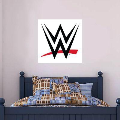 WWE - Logo (White) Wall Sticker