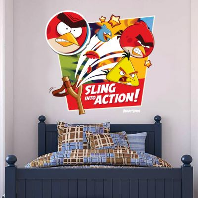 Angry Birds Sling Into Action Wall Sticker