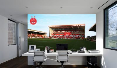Aberdeen FC - Pittodrie Stadium Stand with Mural Full Wall Mural