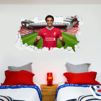 Liverpool Football Club Trent Alexander-Arnold 20/21 Smashed Wall Mural + Badge Decal Set
