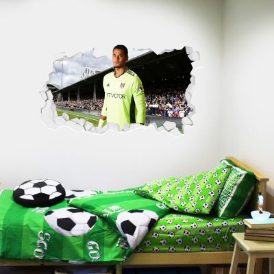 Fulham F.C. - Alphonse Areola Broken Wall Sticker + Fulham Crest Decal