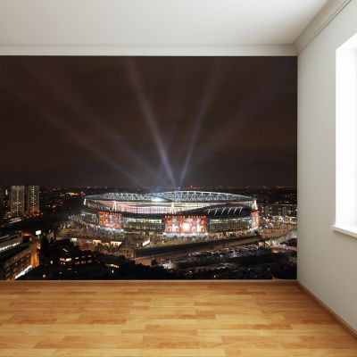Arsenal Emirates Stadium Full Wall Mural - Outside Night Time View With Lights