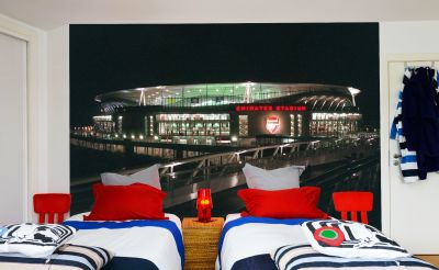 Arsenal Emirates Stadium Full Wall Mural - Outside Night Time View No Lights