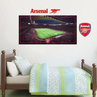 Arsenal Football Club - Emirates Stadium Inside Match Day View + Gunners Wall Mural Sticker