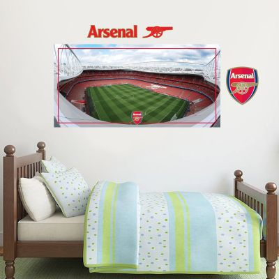 Arsenal Football Club - Emirates Stadium Rooftop View + Gunners Wall Sticker Set