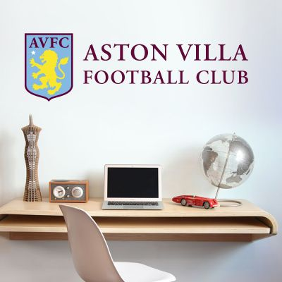 Aston Villa Football Club Name & Crest Wall Sticker