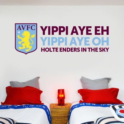 Aston Villa Football Club Crest & Song Wall Sticker