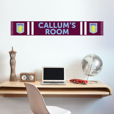 Aston Villa Football Club Bar Scarf Wall Sticker