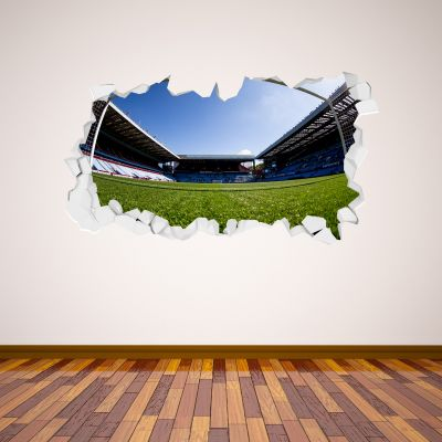 Aston Villa Football Club Broken Wall Stadium View From Goal Wall Sticker