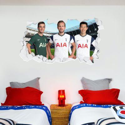 Tottenham Hotspur Football Club - Attacking Trio 20/21 Broken Wall Sticker + Spurs Wall Sticker Set