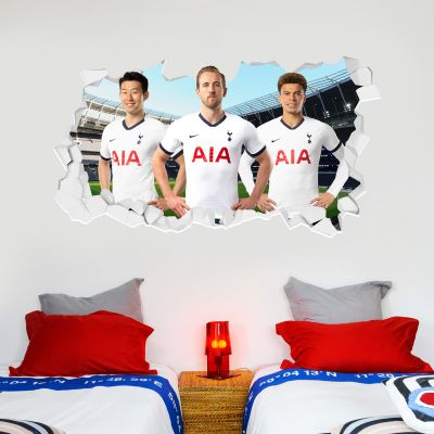 Tottenham Hotspur Football Club - Attacking Trio Broken Wall Sticker + Spurs Wall Sticker Set