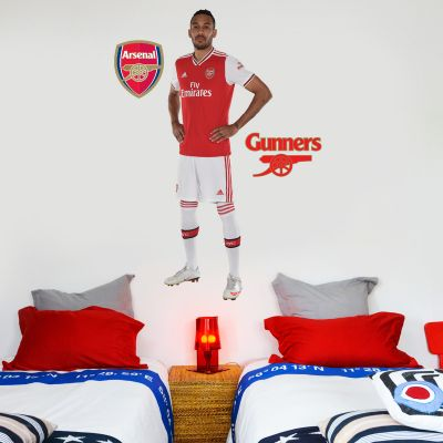 Arsenal FC - Pierre-Emerick Aubameyang Player Decal + Gunners Wall Sticker Set