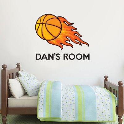 Basketball & Name Wall Sticker