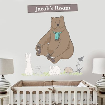 Bear Hunt & Personalised Name Wall Sticker