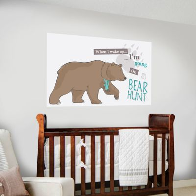When I wake up Bear Hunt Wall Mural