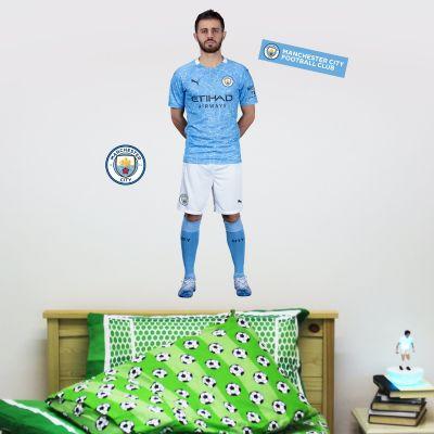 Manchester City FC - Bernardo Silva 20/21 Player Decal + Wall Sticker Set