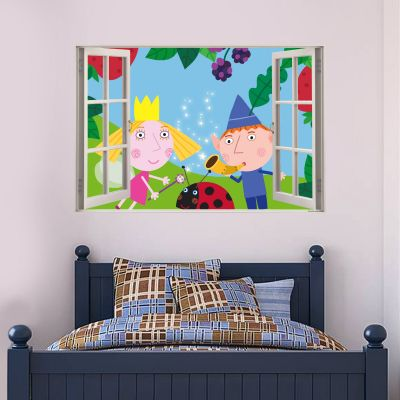 Ben & Holly's Little Kingdom: Ben Holly And Gaston Window Wall Sticker