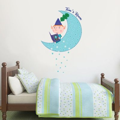 Ben & Holly's Little Kingdom: Ben Personalised Moon Wall Sticker