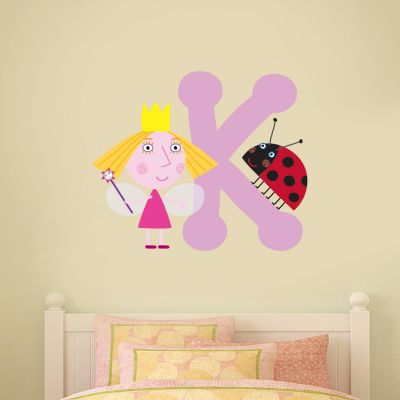 Ben & Holly's Little Kingdom: Holly And Personalised Letter Wall Sticker