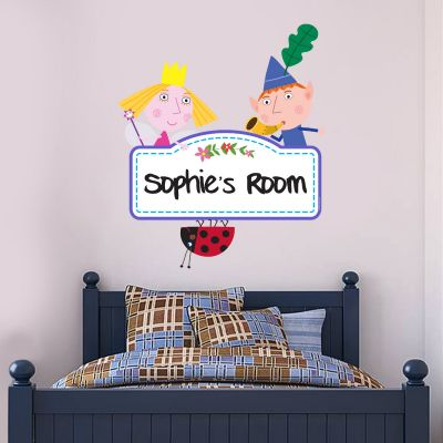 Ben & Holly's Little Kingdom: Personalised Logo Wall Sticker
