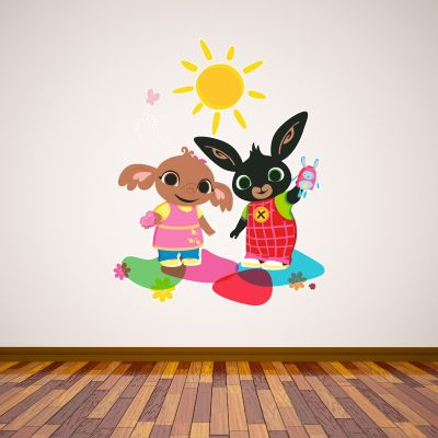 Bing Wall Sticker - Bing and Sula Playing
