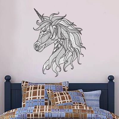 Unicorn Wall Sticker Patterned Unicorn Head