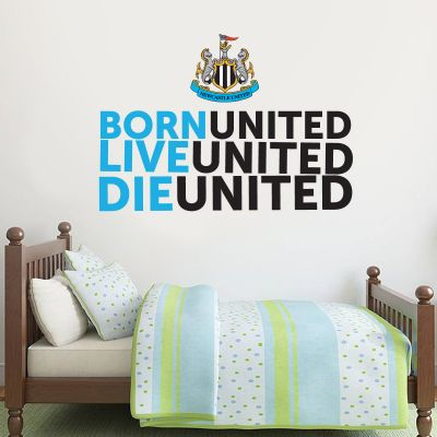 Newcastle United Football Club - 'Born, Live, Die' Quote Wall Sticker