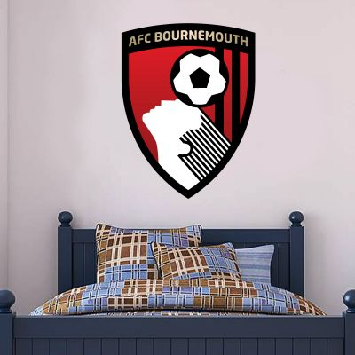 AFC Bournemouth - Club Badge Wall Mural + Cherries Wall Sticker Set