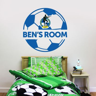 Bristol Rovers F.C. Ball Design & Personalised Name Wall Sticker