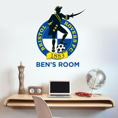 Bristol Rovers F.C. Crest & Personalised Name Wall Sticker