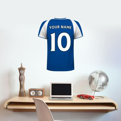 Bristol Rovers F.C. Personalised Shirt Wall Sticker