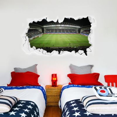Wigan Athletic F.C. Broken Wall Sticker - Night Time