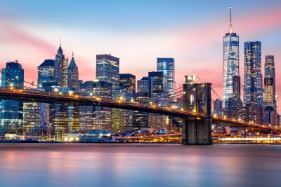 Brooklyn Bridge & Manhattan Skyline Wall Mural