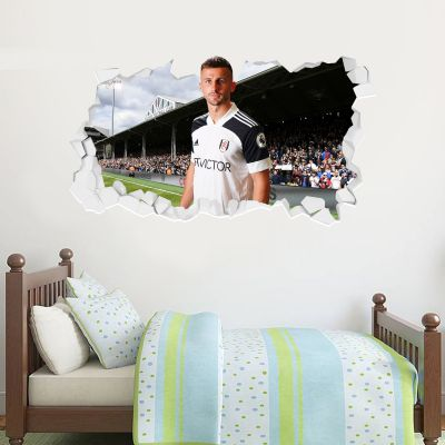Fulham F.C. - Joe Bryan Broken Wall Sticker + Fulham Crest Decal
