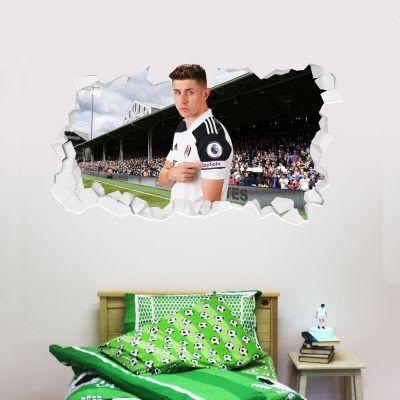 Fulham F.C. - Tom Cairney Broken Wall Sticker + Fulham Crest Decal