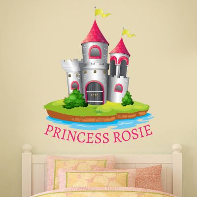 Castle Princess Personalised Name Wall Sticker