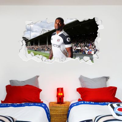 Fulham F.C. - Ivan Cavaleiro Broken Wall Sticker + Fulham Crest Decal
