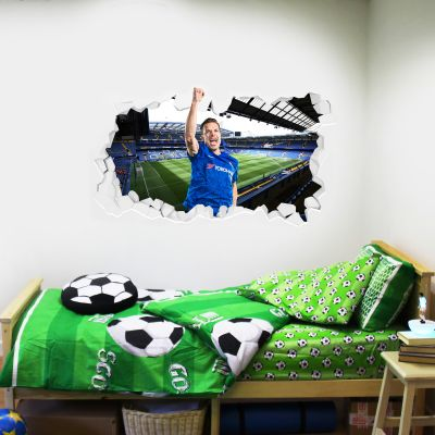 Chelsea Football Club - Cesar Azpilicueta Broken Wall Mural + Blues Wall Sticker Set