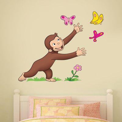 Curious George - Butterflies Wall Sticker