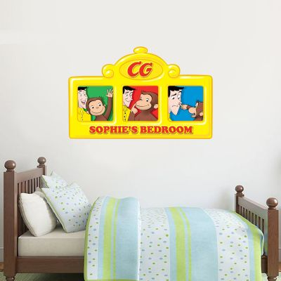 Curious George - Personalised Name Sign Wall Sticker