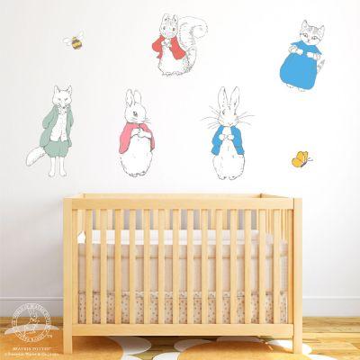Peter Rabbit Beatrix Potter Characters Wall Sticker Set
