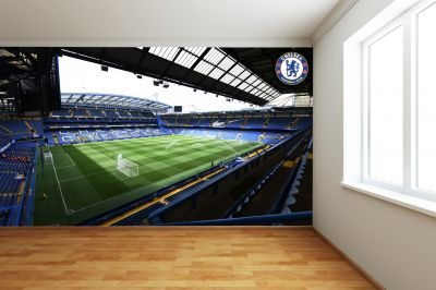Chelsea FC - Stamford Bridge Stadium Full Wall Mural - Inside Day Time