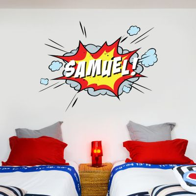 Comic Book Name Personalised Wall Sticker